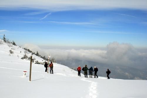 Górskie wędrowanie w rakietach śnieżnych